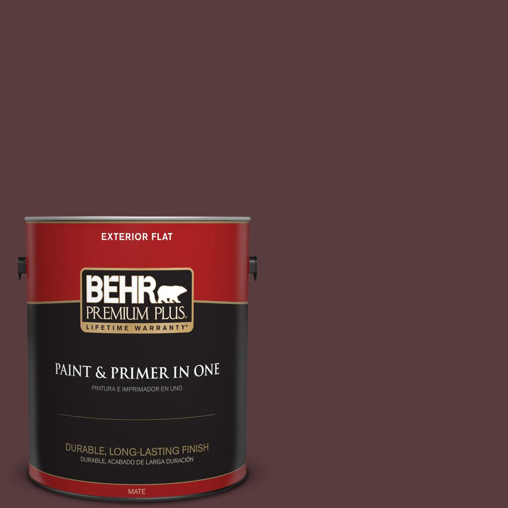 1 gal. #PPU1-02 Divine Wine Flat Exterior Paint