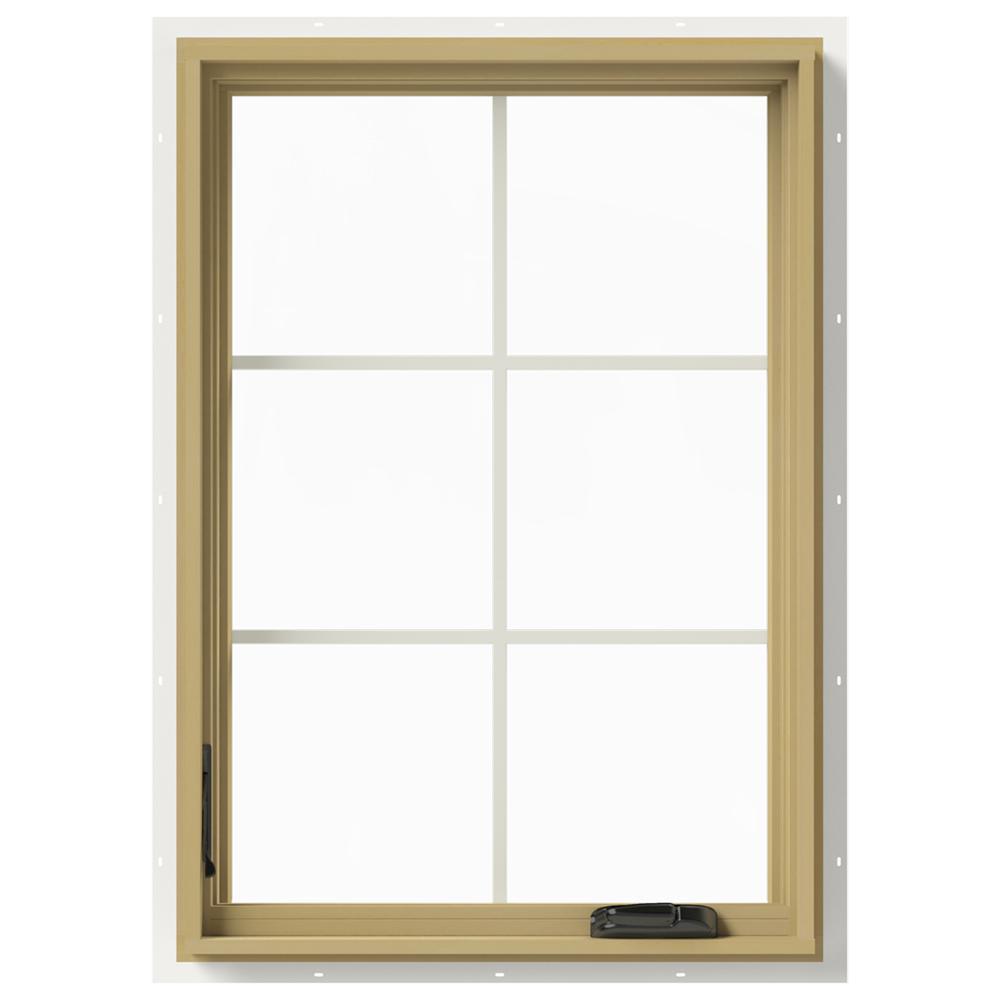 28 in. x 40 in. W-2500 Left Hand Casement Aluminum Clad Wood Window