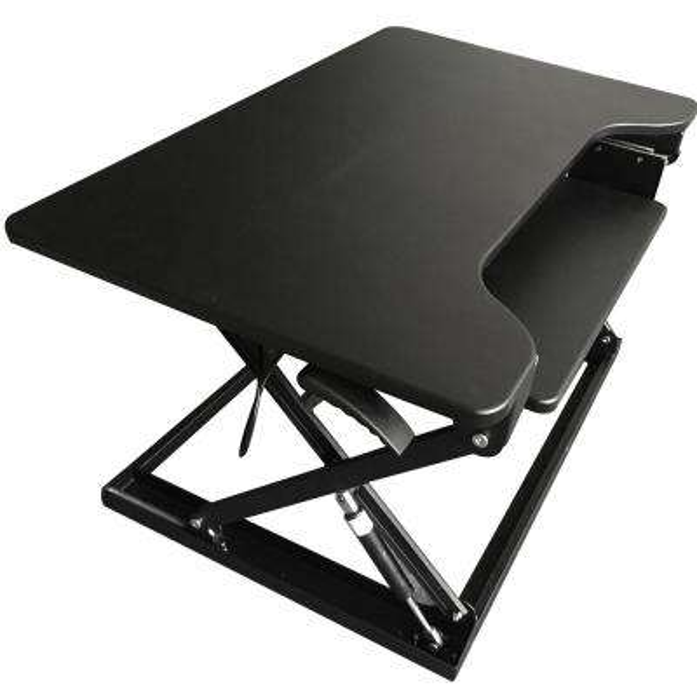 Large Black Desk Top Adjustable Sit to Stand Desk
