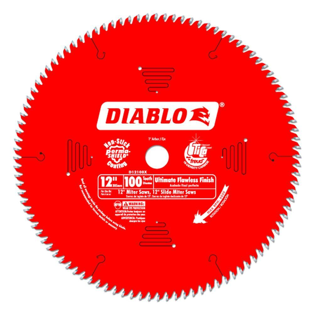 12 in. x 100-Tooth Ultimate Flawless Finish Saw Blade (15-Pack)