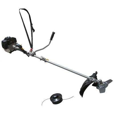 17 in. 43 cc Gas Straight Shaft String Trimmer Combo Kit with 10 in. Brush Cutter Blade and Shoulder Strap