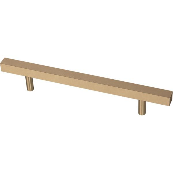 Square Bar 5-1/16 in. (128 mm) Champagne Bronze Cabinet Pull
