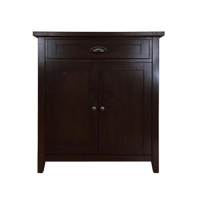 Brookdale Dark Walnut Accent Cabinet with Drawer and Doors