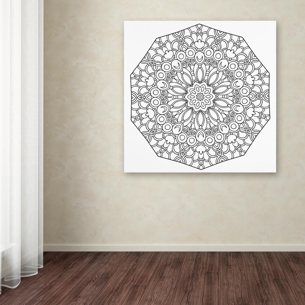 24 In X 24 In Fun Mandala By Kathy G Ahrens Printed Canvas Wall Art