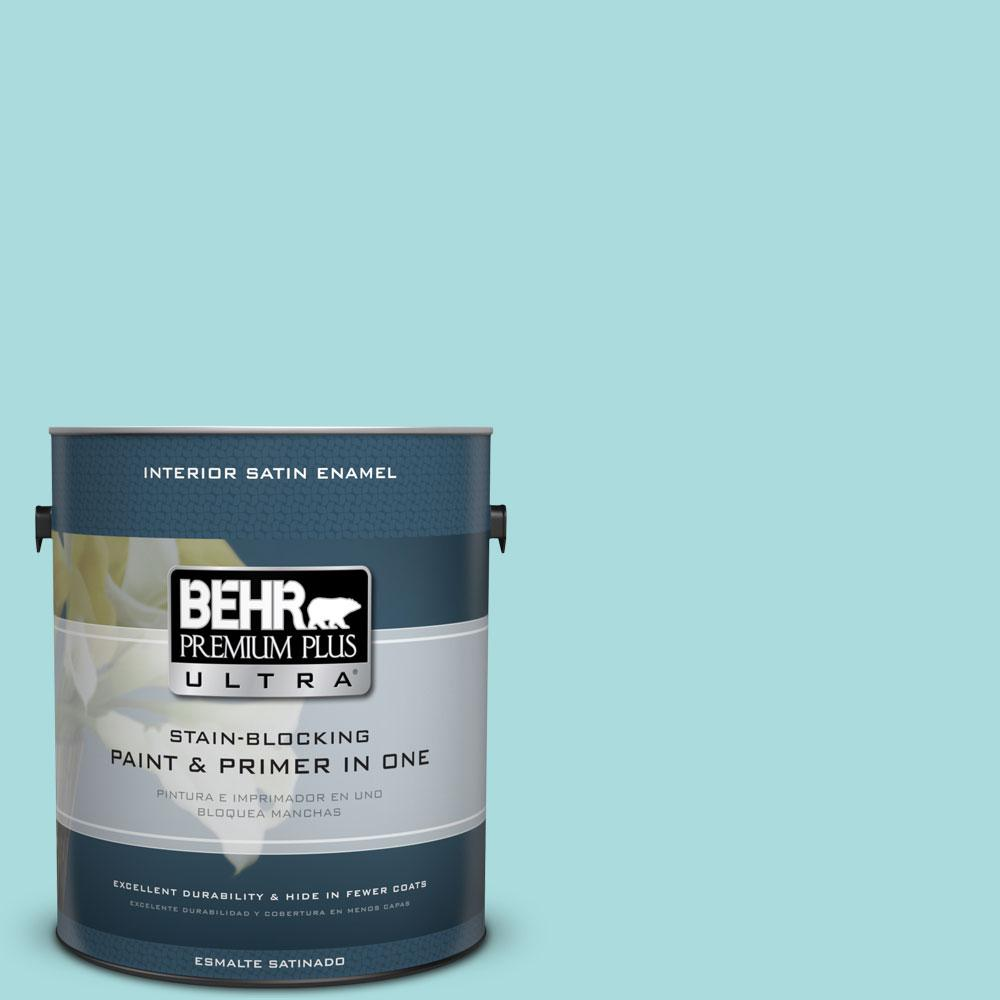 1 gal. #M460-2 Beachside Drive Satin Enamel Interior Paint