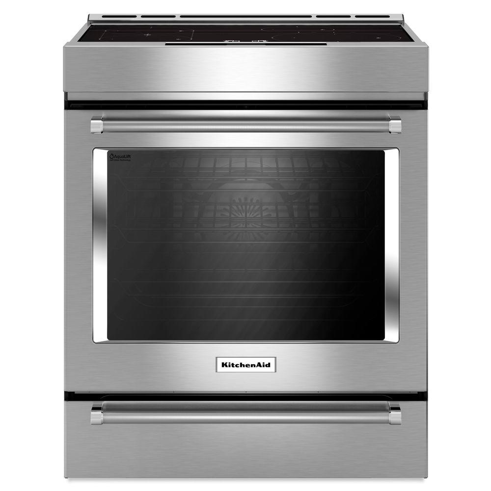 Slide In Induction Range With Self Cleaning Convection Oven Stainless Steel
