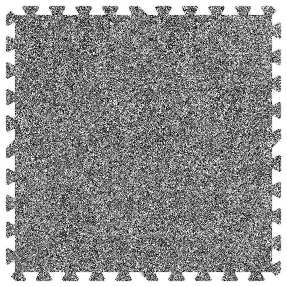 Groovy Mats Light Grey 24 in. x 24 in. Comfortable Carpet Mat (100 sq. ft. / Case)