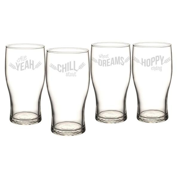 Cathy's Concepts Beer Pun 19 oz. Pilsner Glasses BP4115-4