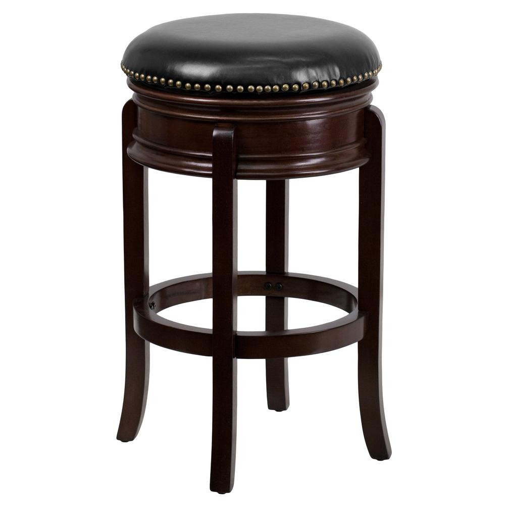 30 in. Brown Cushioned Bar Stool