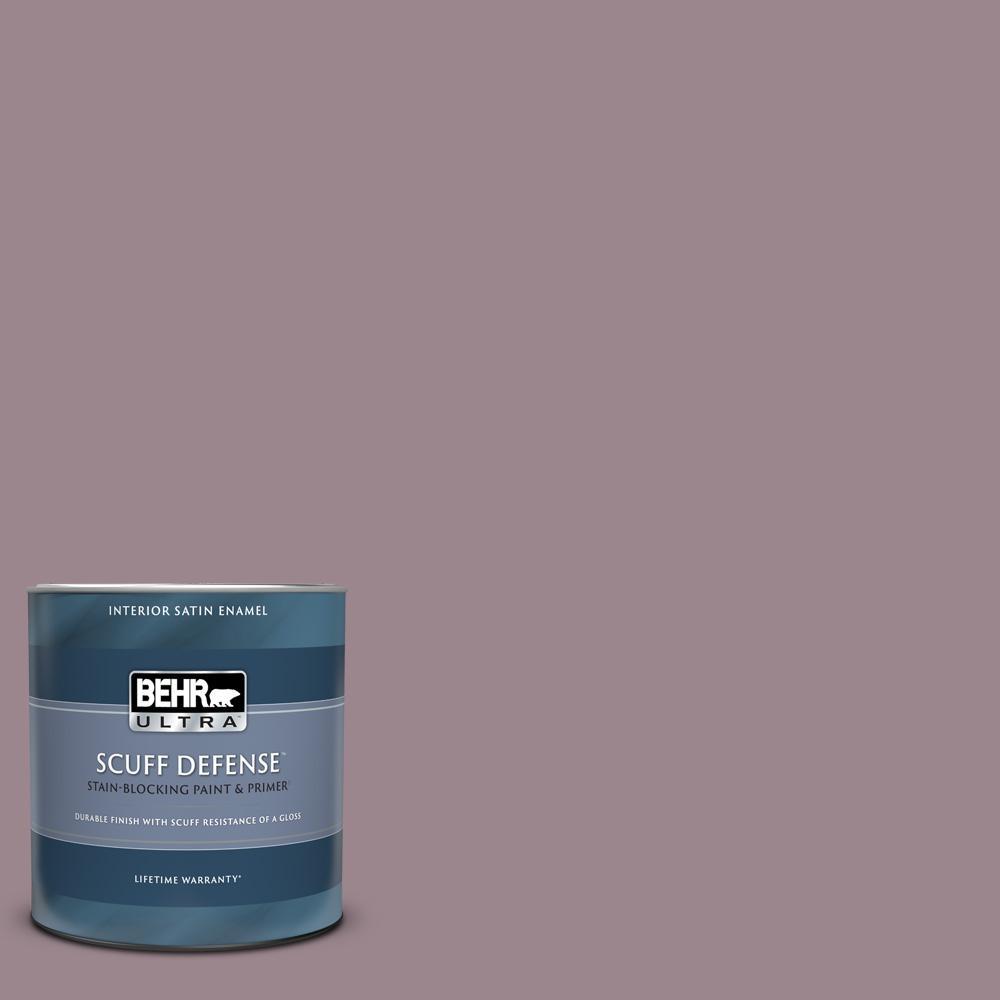 Behr Ultra 1 Qt Ppu17 14 Dream Sunset Extra Durable Satin Enamel Interior Paint Primer 775404 The Home Depot