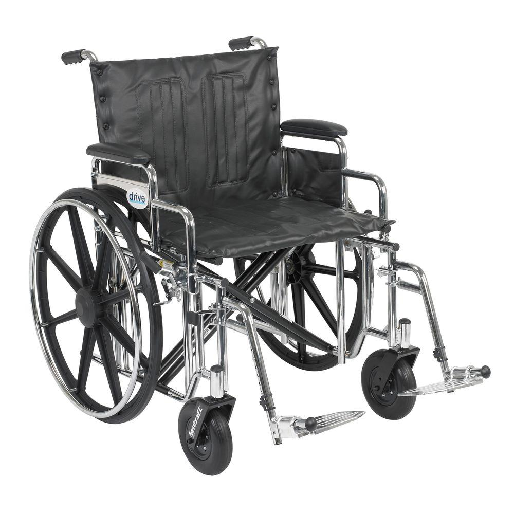 Sentra Extra Heavy Duty Wheelchair with Detachable Desk Arms and Swing-Away
