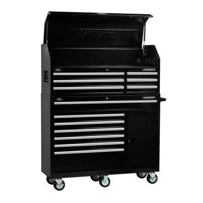 52 in. 13-Drawer Tool Chest and Cabinet Combo in Black