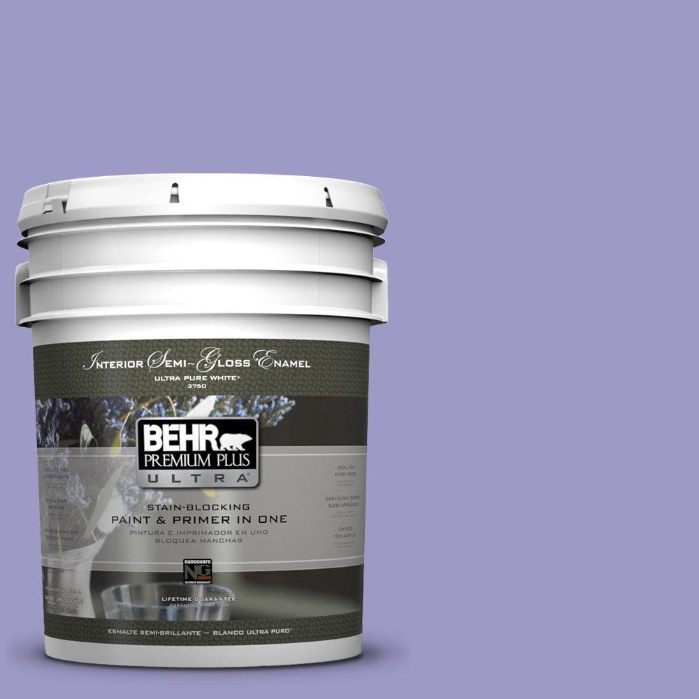 5-gal. #630B-5 Majestic Violet Semi-Gloss Enamel Interior Paint