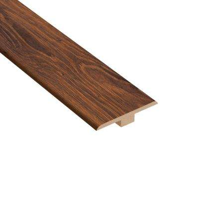 Santa Cruz Walnut 1/4 in. Thick x 1-7/16 in. Wide x 94 in. Length Laminate T-Molding