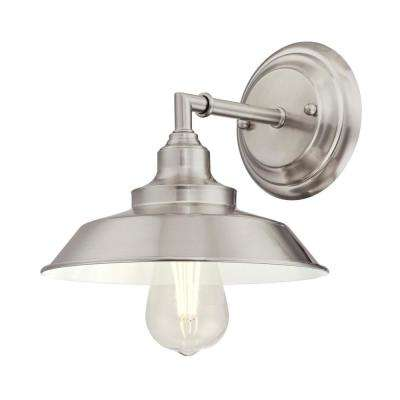 Iron Hill 1-Light Brushed Nickel Wall Mount Sconce
