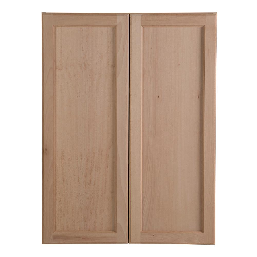 Buy Unfinished Kitchen Cabinet Doors: Hampton Bay Easthaven Assembled 27x36x12.62 In. Wall