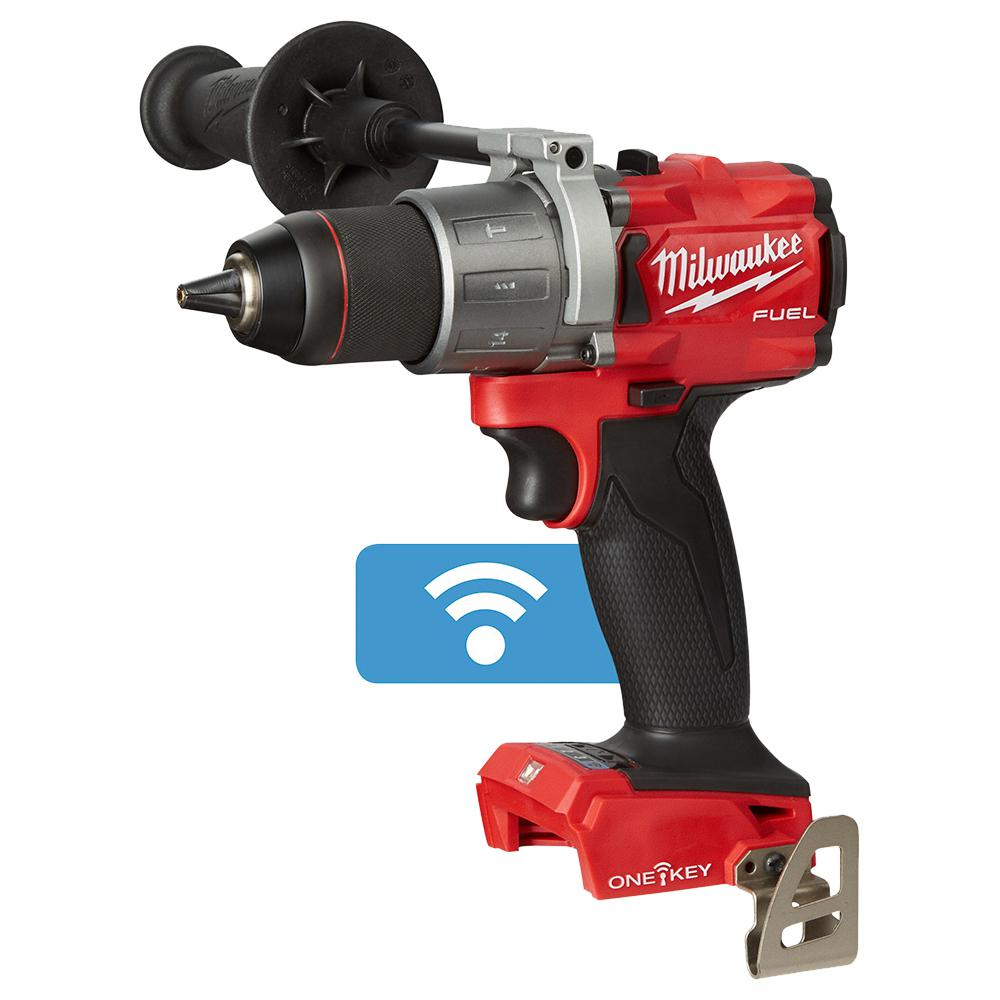 Milwaukee M18 FUEL ONE-KEY 18-Volt Lithium-Ion Brushless Cordless 1/2 in. Hammer Drill/Driver (Tool-Only)