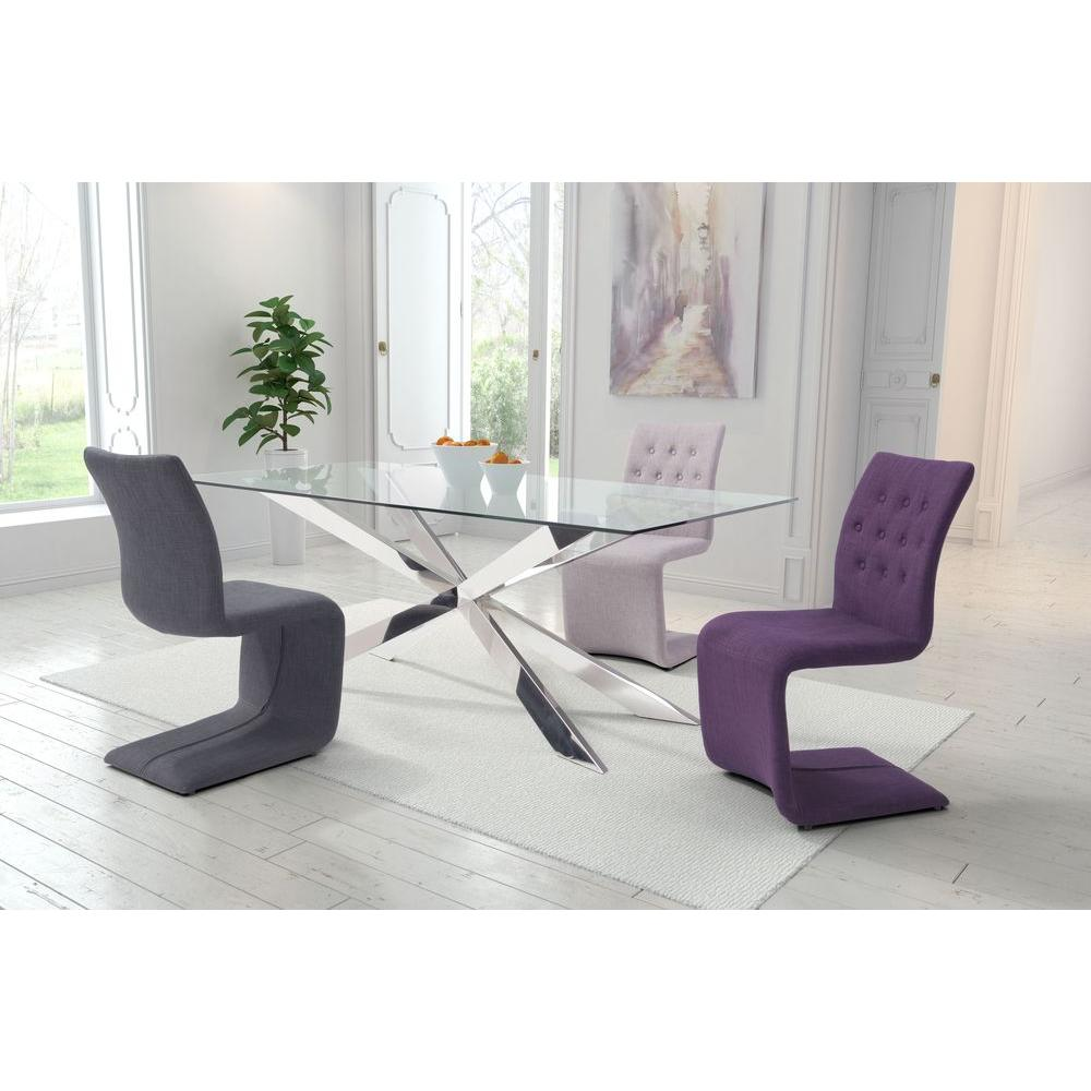 ZUO Hyper Purple Polyblend Dining Chair (Set Of 2)