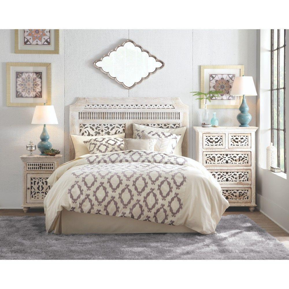 maharaja sandblast white queen headboard home decorators