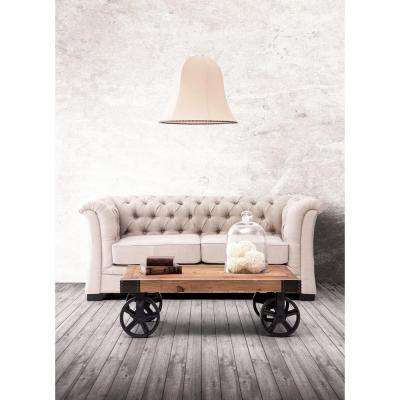 Barbary Coast Distressed Natural Mobile Coffee Table