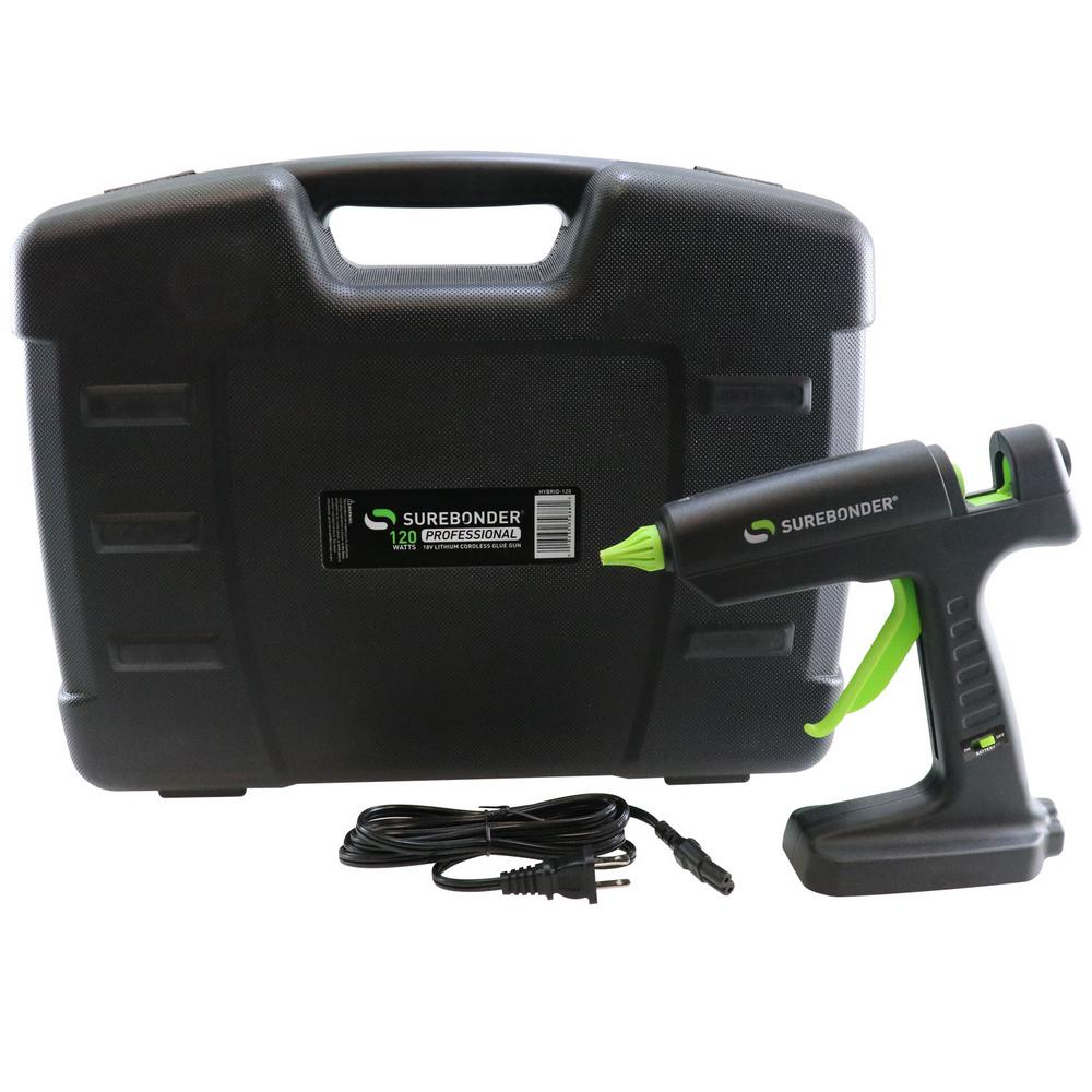 Surebonder 120-Watt Corded or 18-Volt Lithium-Ion Cordless Hybrid Industrial Full Size Glue Gun (Battery & Charger Not Included)