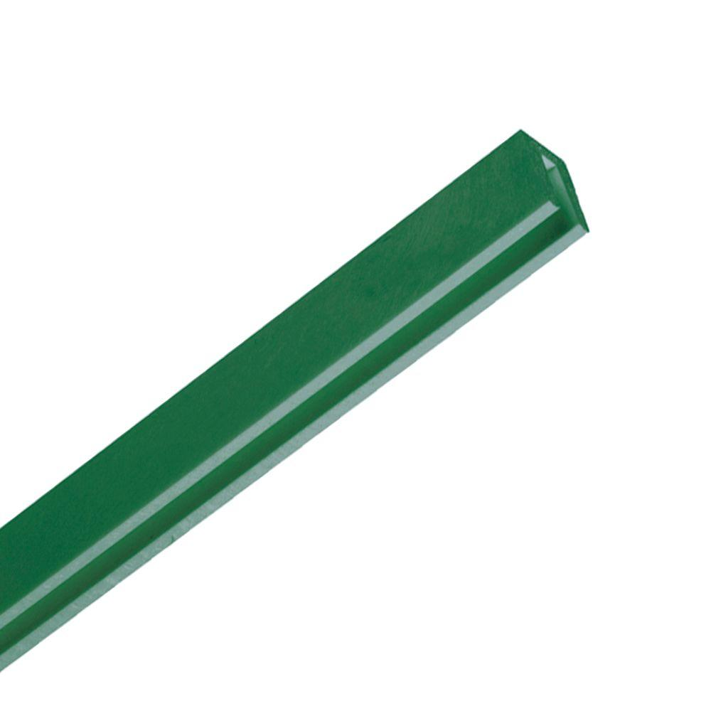 0.75 in. x 1.18 in. x 8 ft. Forest Green Plastic