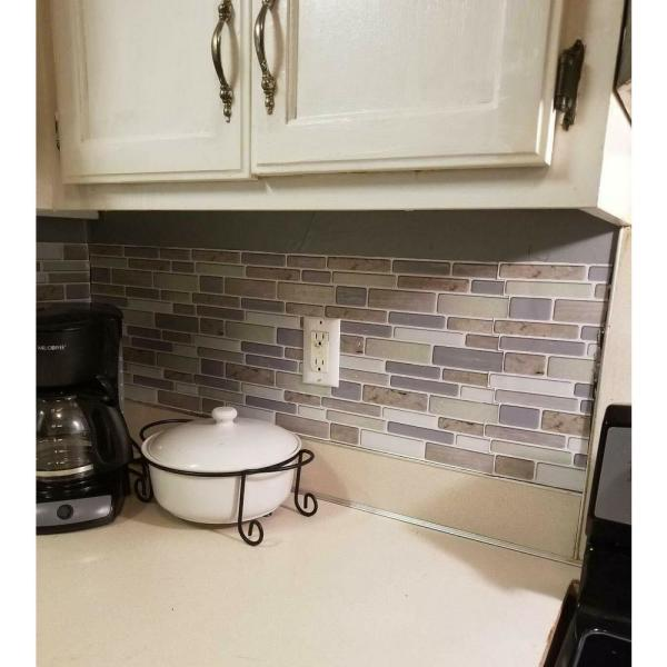 Art3d 12 In X 12 In X 0 06 In Peel And Stick Vinyl Backsplash Tile In Beige Marble 6 Pack A17041p6 The Home Depot