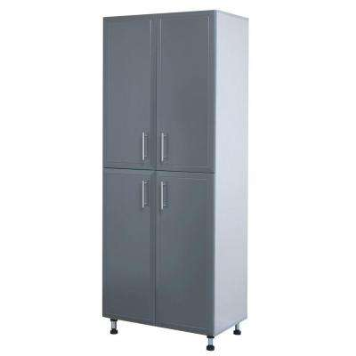 ProGarage 4 Door Laminated Storage Cabinet in Gray