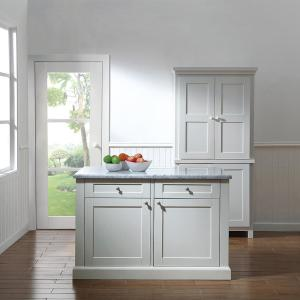 Delightful +8. Martha Stewart Living Maidstone 54 In. White Kitchen Island