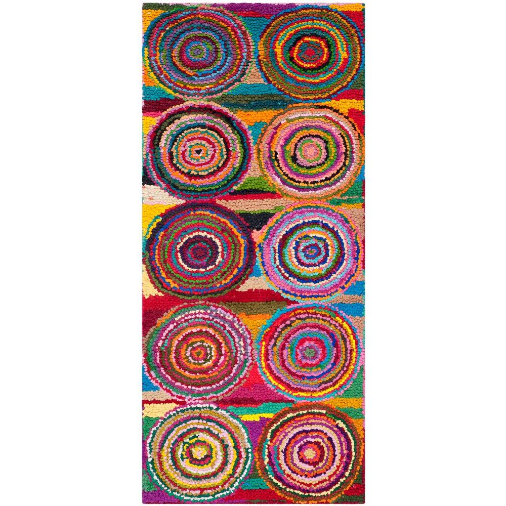 Nantucket Pink/Multi 3 ft. x 5 ft. Runner Rug
