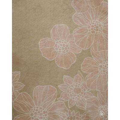 """16 in. x 20 in. """"Pink Flowers"""" Planked Wood Wall Art Print"""