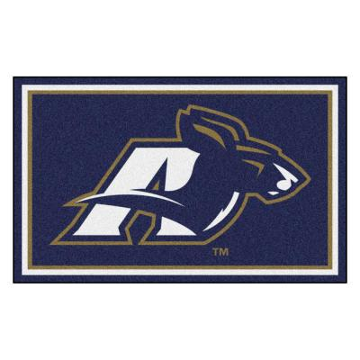 NCAA - University of Akron Navy Blue 4 ft. x 6 ft. Area Rug