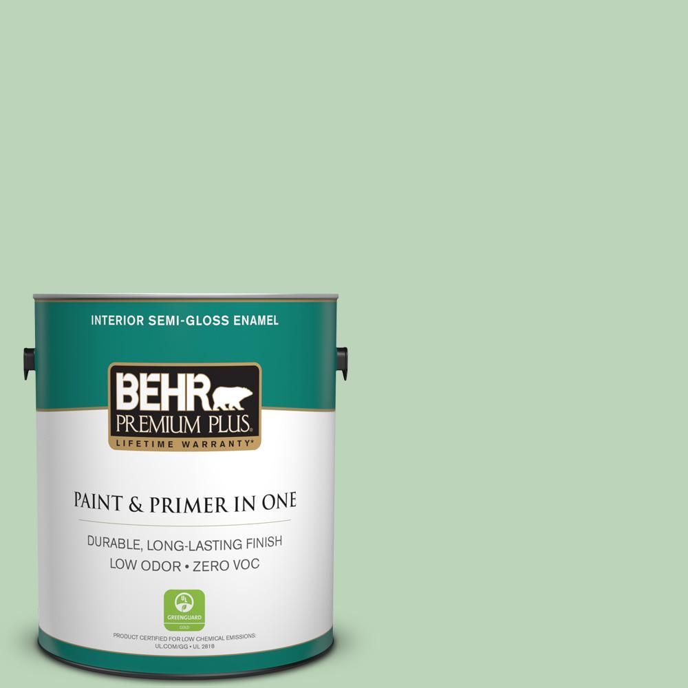 BEHR Premium Plus 1-gal. #M400-3 Bok Choy Semi-Gloss Enamel Interior Paint