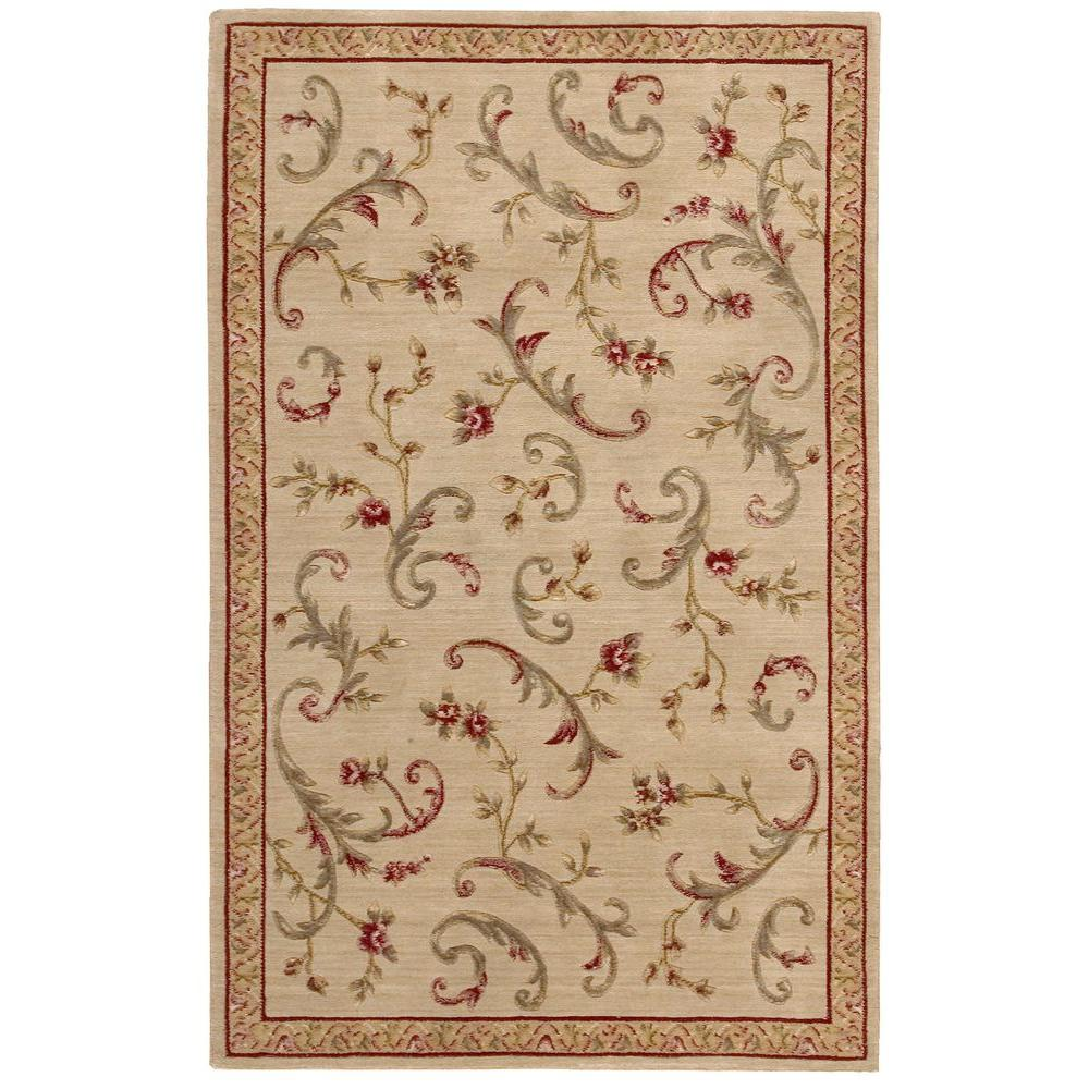 Nourison Overstock Chateau Beige 3 ft. 6 in. x 5 ft. 6 in. Area Rug