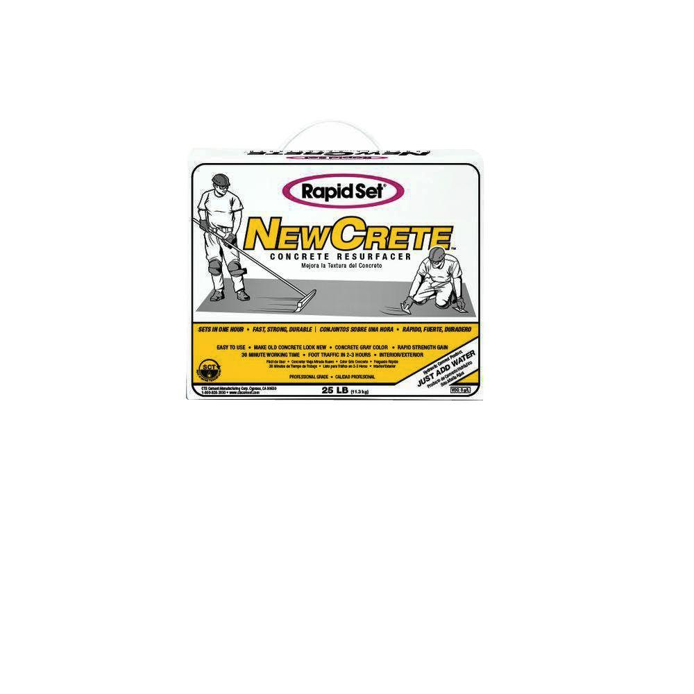Rapid Set 25 Lb Newcrete Concrete Resurface 05020025