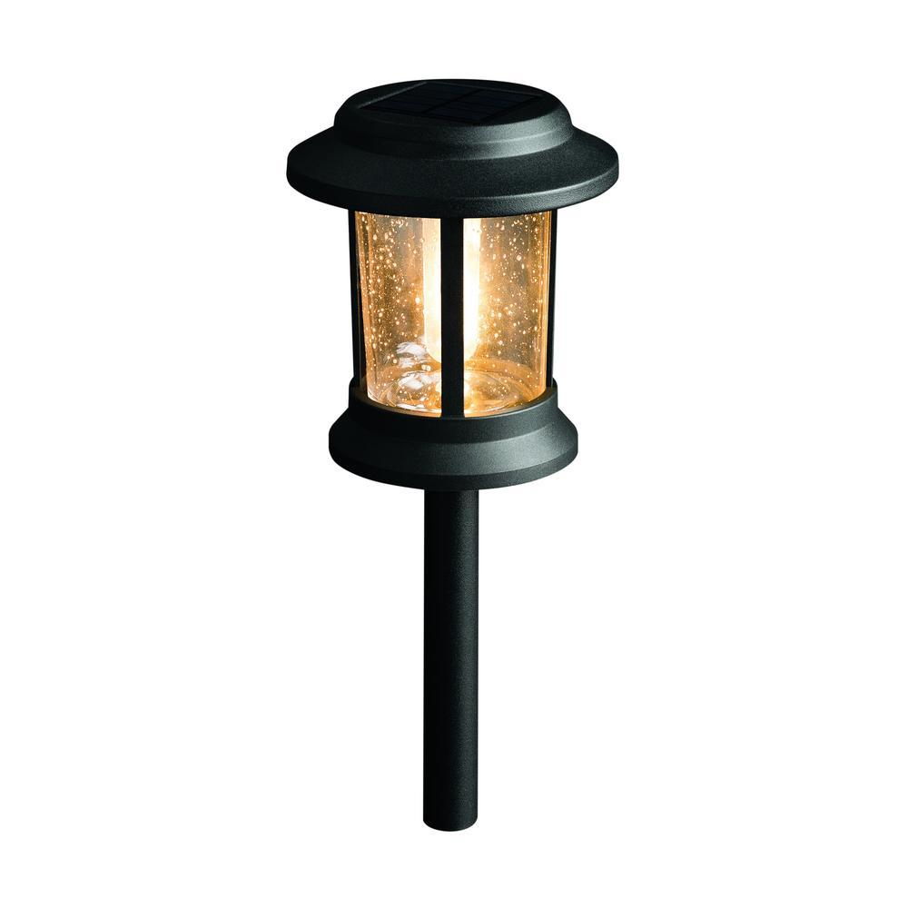 Solar Black Outdoor Integrated LED 3000K 12-Lumens Vintage Bulb Seedy Glass