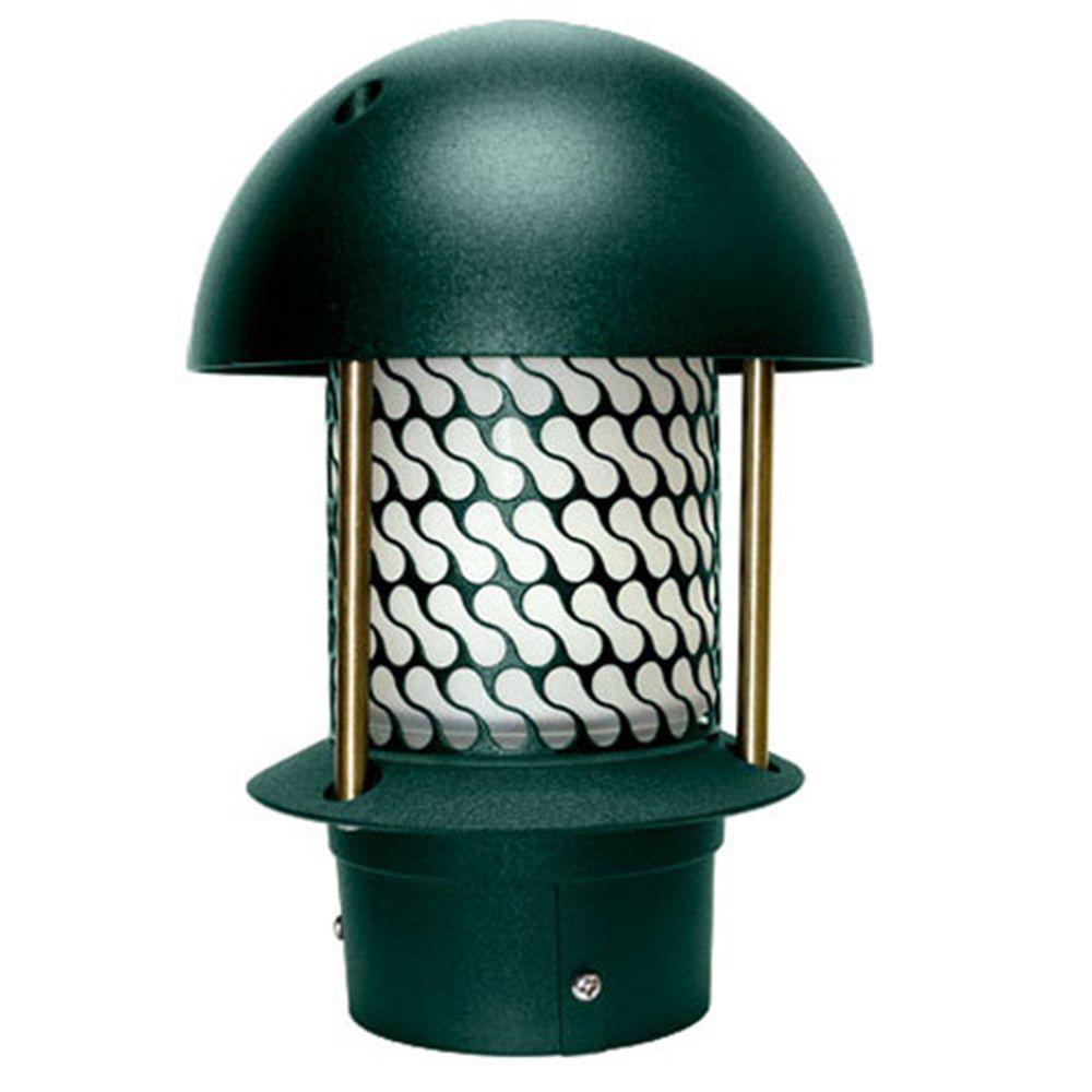 Corbin 1-Light Green Round Top Outdoor Pagoda Pathway Light