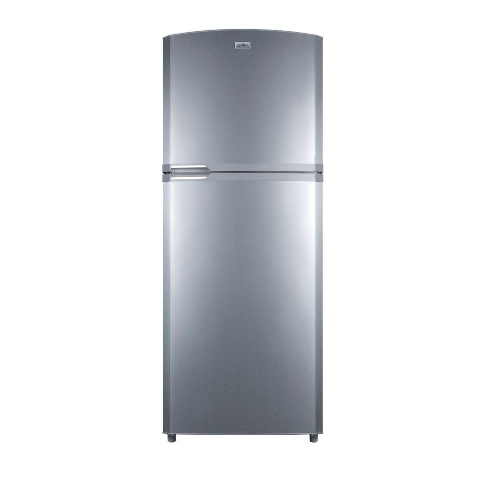 Summit Appliance 13.02 cu. ft. Top Freezer Refrigerator in Platinum, Counter Depth