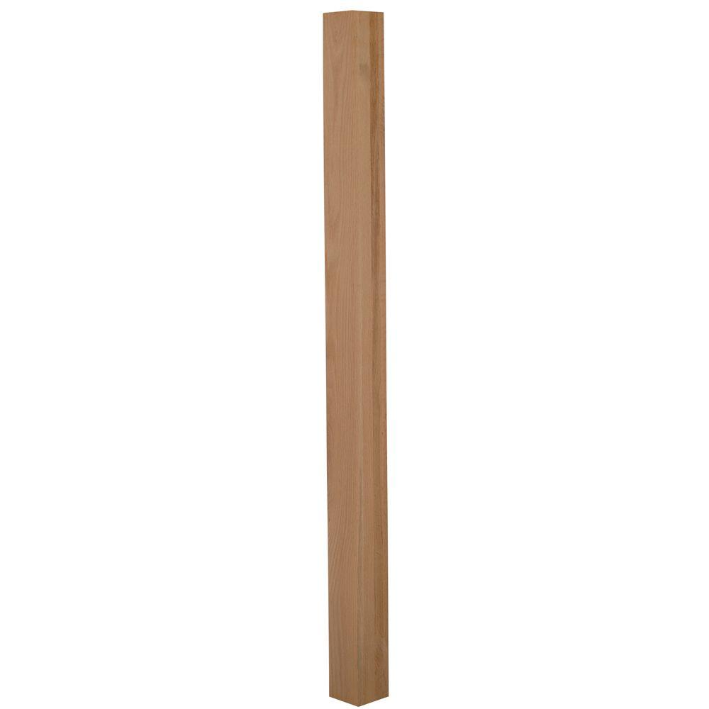 4000 3 in. x 66 in. Unfinished Red Oak Newel Post