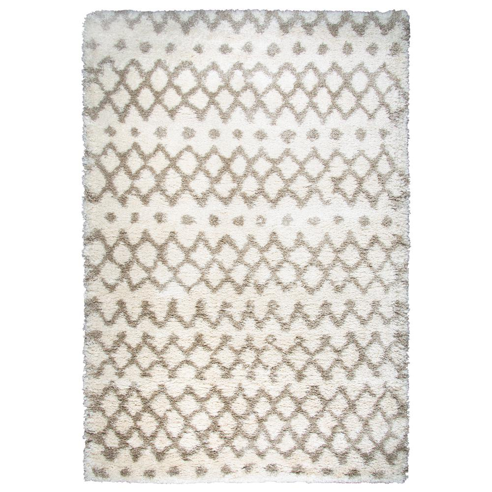 Midnight Cream 7 ft. 10 in. x 10 ft. 6 in. Geometric Area Rug