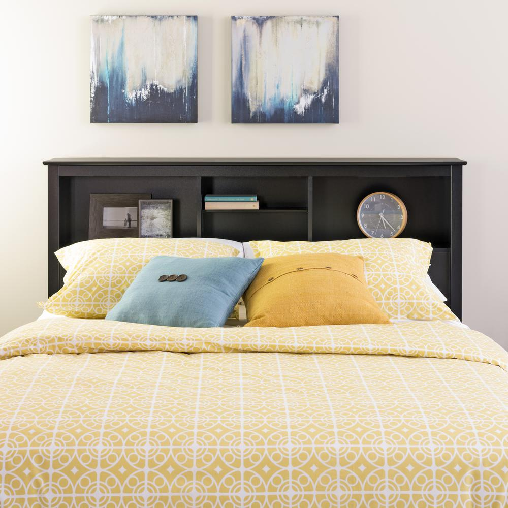Prepac Sonoma Black Double/Queen Headboard