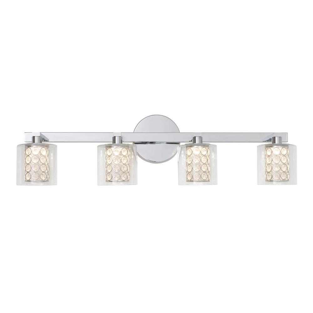 Romance 27.6 in. Chrome LED Vanity Light Bar