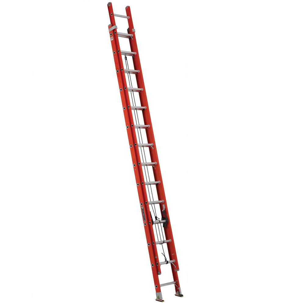 Louisville Ladder 28 Ft Fiberglass Extension Ladder With