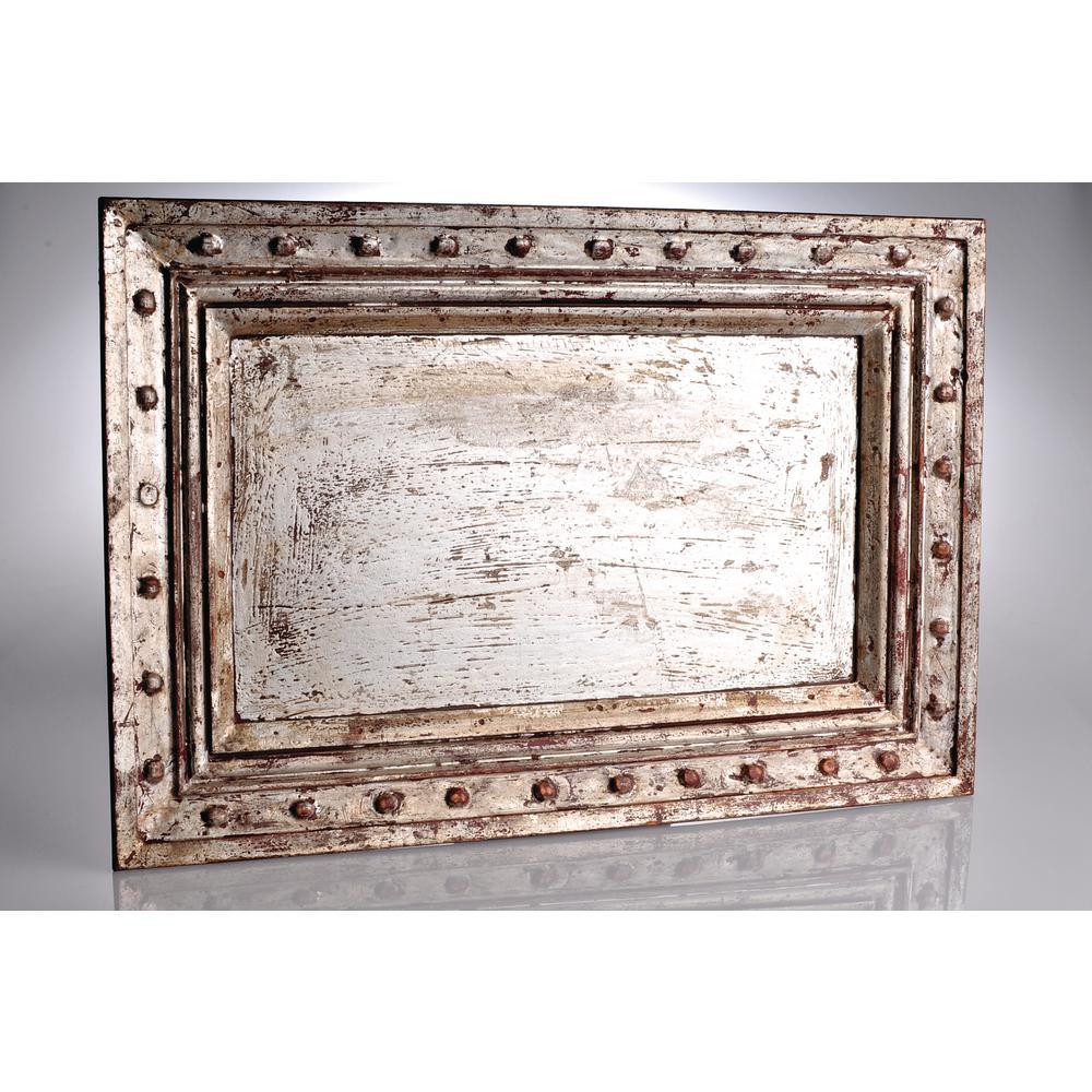 Abigails Vendome Sliver Wood Decorative Tray