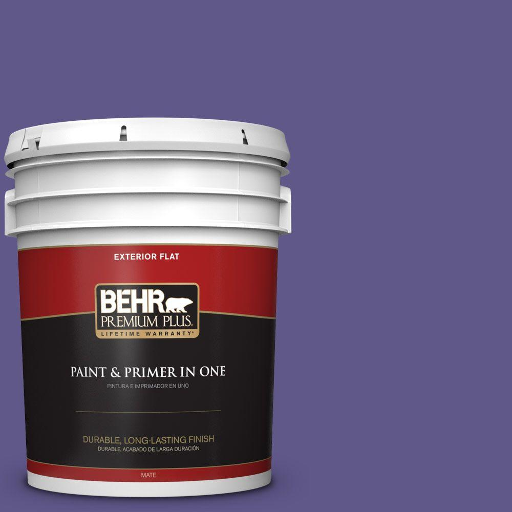 BEHR Premium Plus 5-gal. #S-G-640 Purple Balloon Flat Exterior Paint
