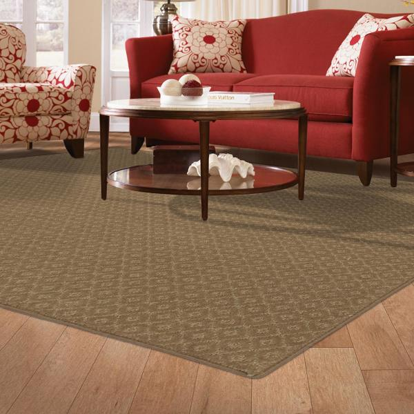 Petproof Pattern Sawyer Canoe Texture 12 Ft X 15 Ft Bound Carpet Rug 589189 The Home Depot