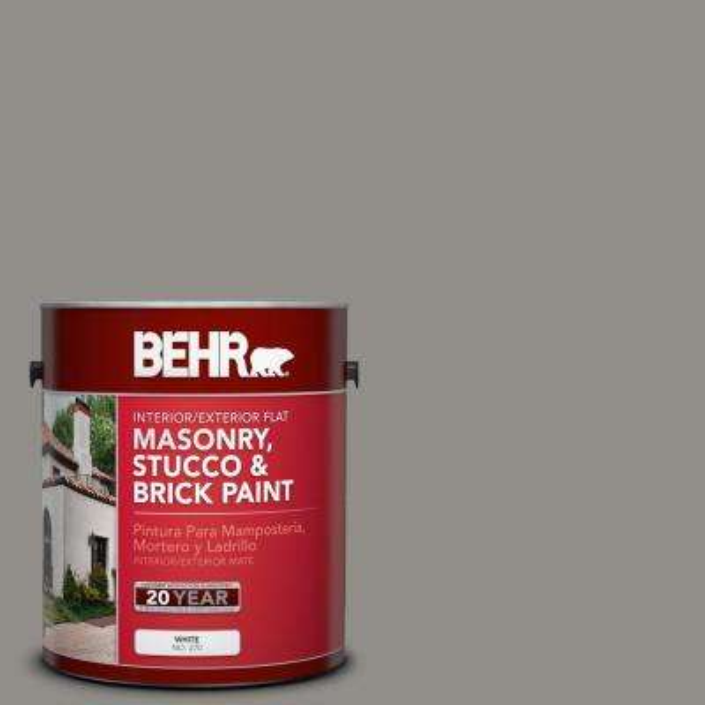 1 gal. #PFC-69 Fresh Cement Flat Interior/Exterior Masonry, Stucco and Brick Paint