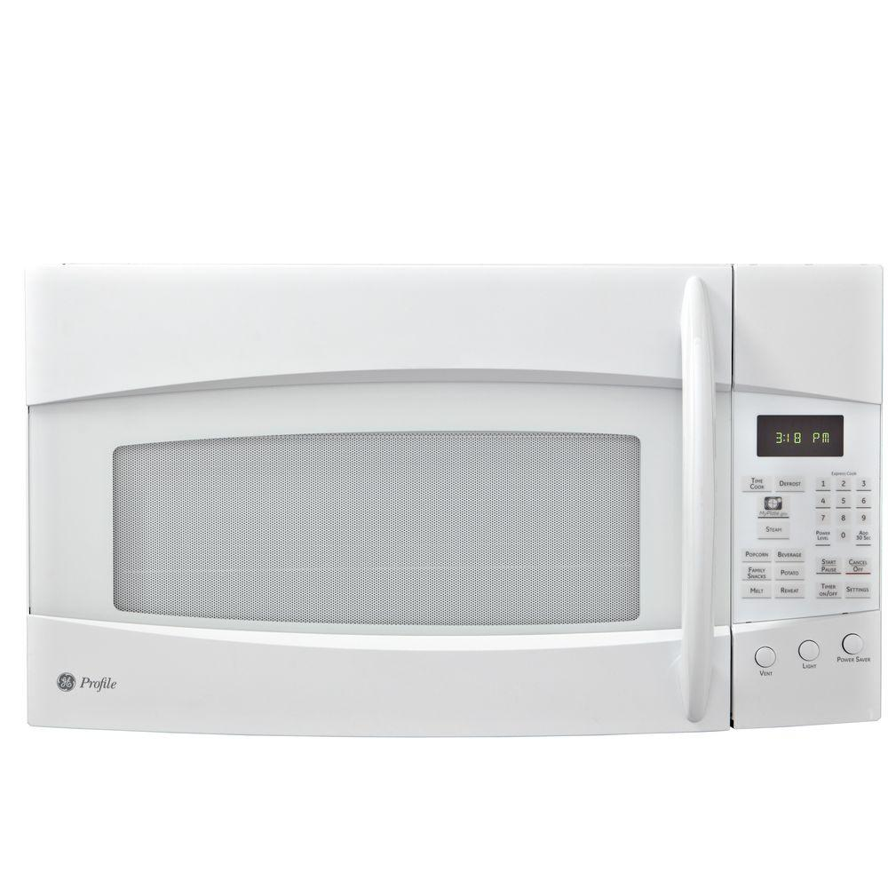 GE Profile Spacemaker 1.9 cu. ft. Over-the-Range Microwave in White-DISCONTINUED