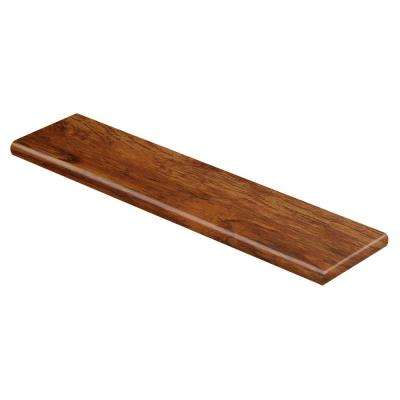 Rustic Hickory 94 in. Long x 12-1/8 in. Deep x 1-11/16 in. Height Vinyl Overlay Right Return to Cover Stairs 1 in. Thick