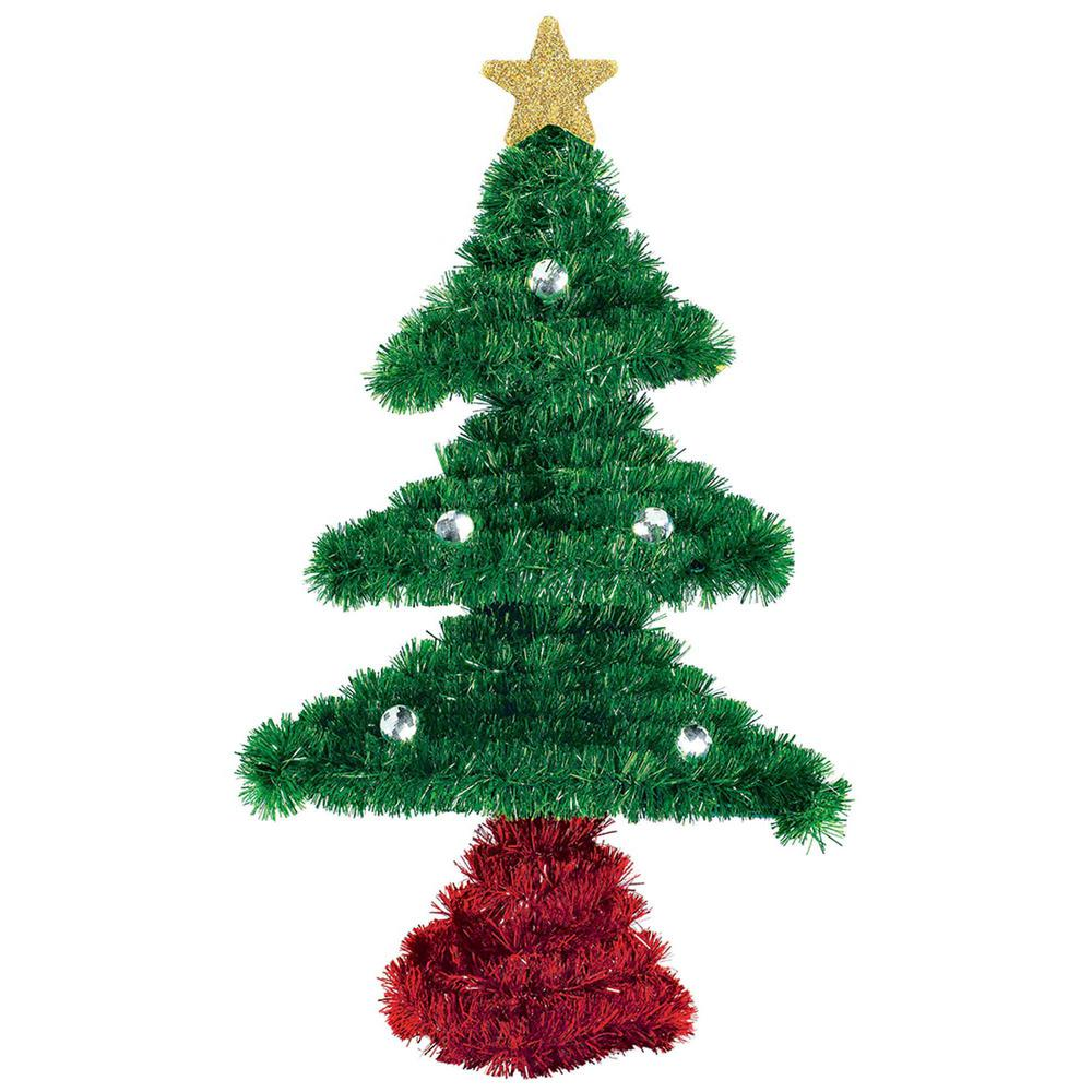 Amscan 8 In X 5 In X 2 In Tree Tinsel Decoration 5 Pack 241340